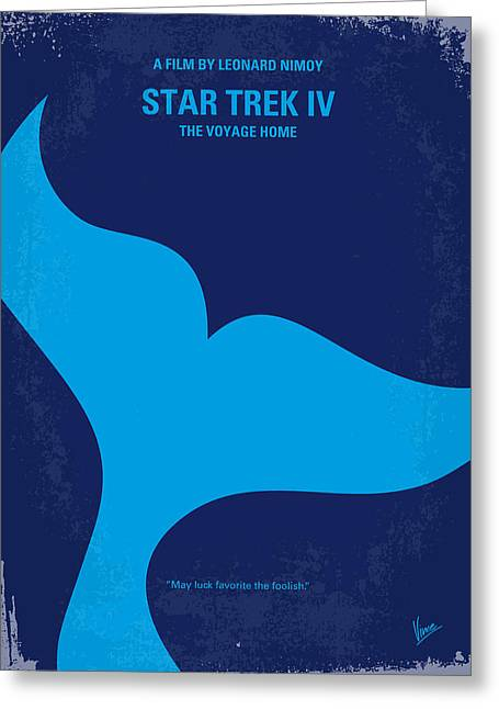 No084 My Star Trek 4 Minimal Movie Poster Greeting Card by Chungkong Art