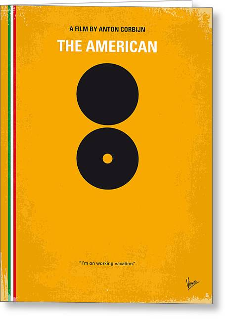 No088 My The American Minimal Movie Poster Greeting Card by Chungkong Art