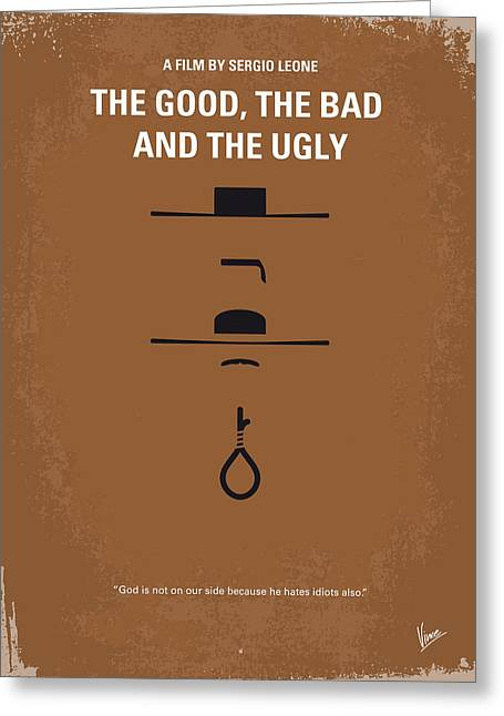No090 My The Good The Bad The Ugly Minimal Movie Poster Greeting Card by Chungkong Art