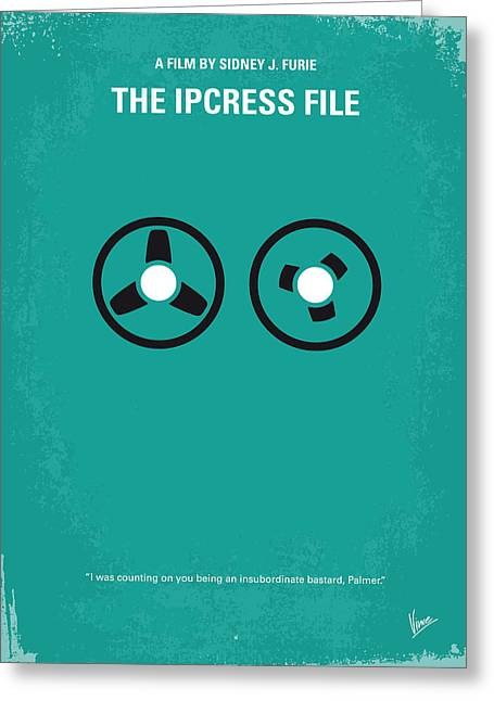 No092 My The Ipcress File Minimal Movie Poster Greeting Card