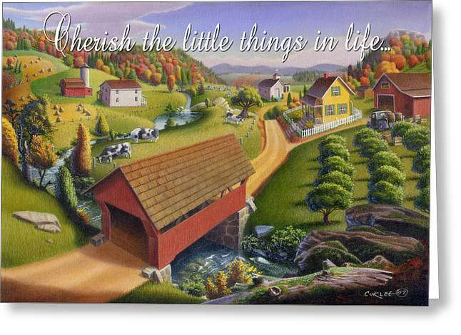 no1 Cherish the little things in life Greeting Card by Walt Curlee