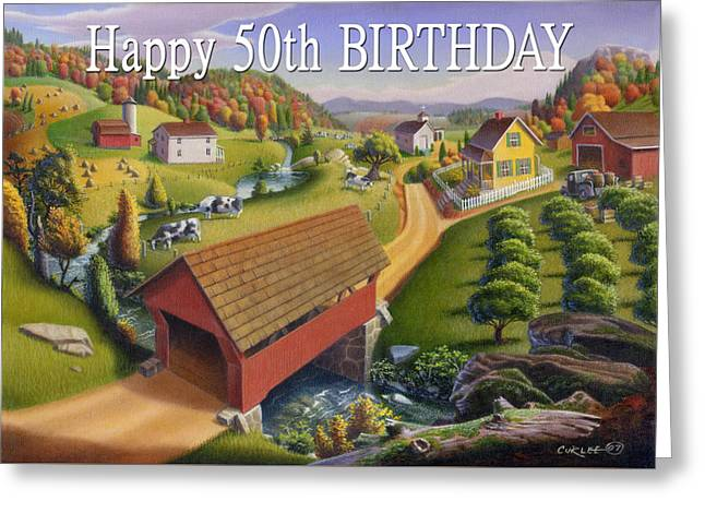 no1 Happy 50th Birthday Greeting Card by Walt Curlee