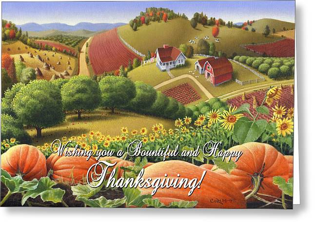 no10 Wishing you a Bountiful and Happy Thanksgiving Greeting Card