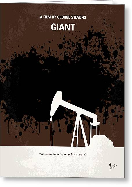 No102 My Giant Minimal Movie Poster Greeting Card by Chungkong Art