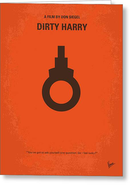 No105 My Dirty Harry Movie Poster Greeting Card by Chungkong Art