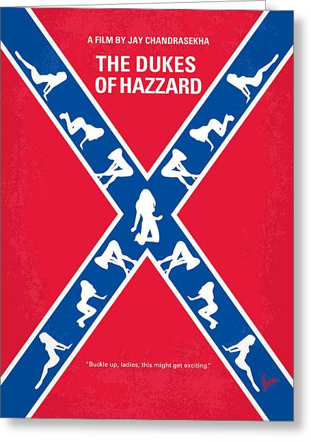 No108 My The Dukes Of Hazzard Movie Poster Greeting Card by Chungkong Art