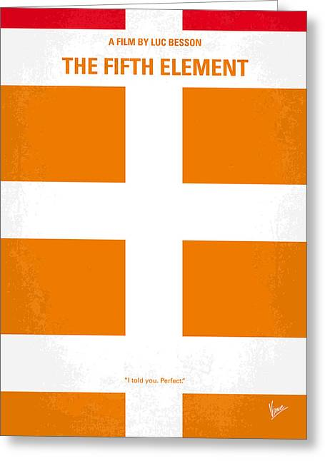 No112 My Fifth Element Minimal Movie Poster Greeting Card by Chungkong Art