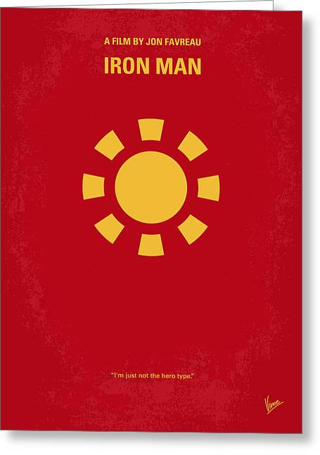 No113 My Iron Man Minimal Movie Poster Greeting Card