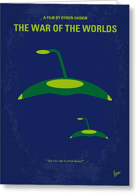 No118 My War Of The Worlds Minimal Movie Poster Greeting Card by Chungkong Art