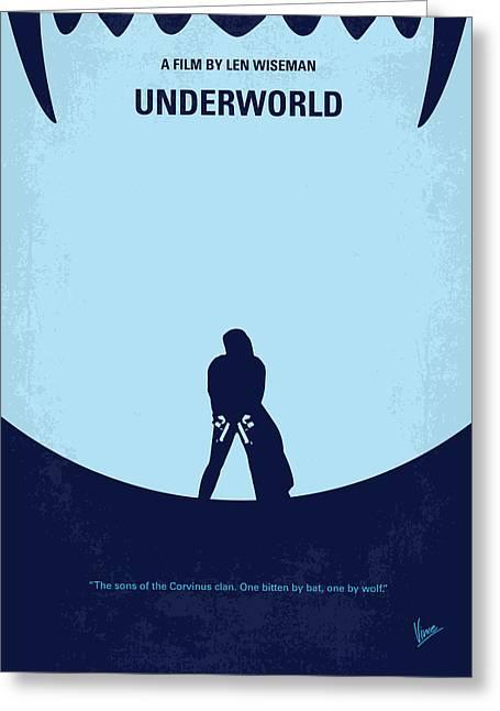 No122 My Underworld Minimal Movie Greeting Card