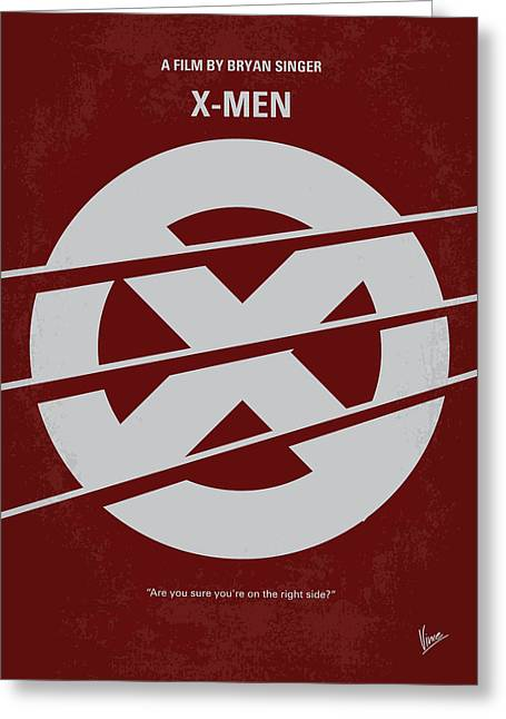 No123 My Xmen Minimal Movie Poster Greeting Card