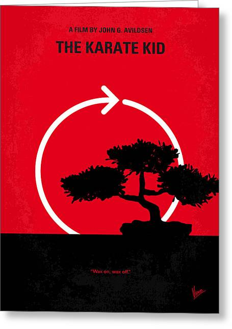 No125 My Karate Kid Minimal Movie Poster Greeting Card by Chungkong Art