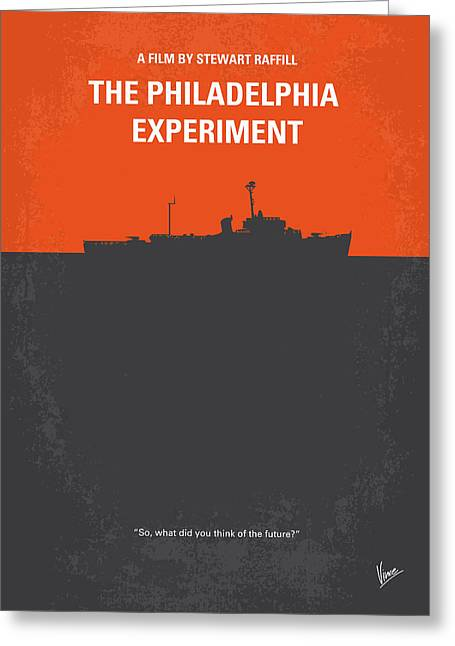 No126 My The Philadelphia Experiment Minimal Movie Poster Greeting Card by Chungkong Art