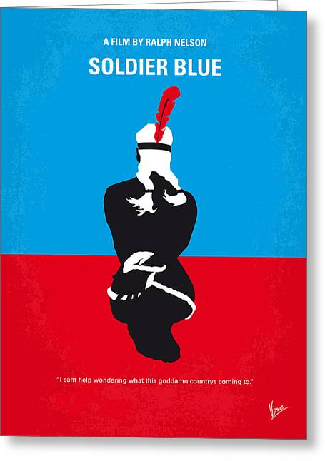 No136 My Soldier Blue Minimal Movie Poster Greeting Card by Chungkong Art
