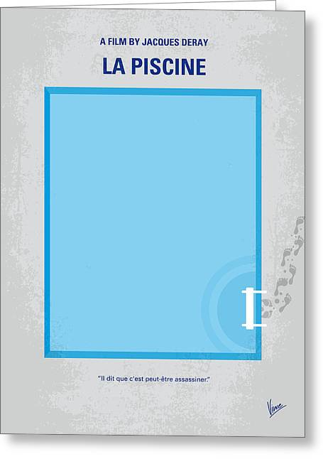 No137 My La Piscine Minimal Movie Poster Greeting Card