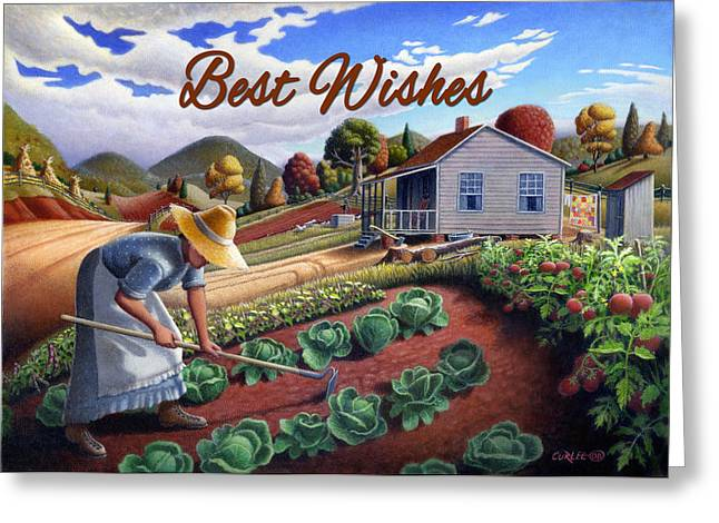 no13A Best Wishes Greeting Card by Walt Curlee