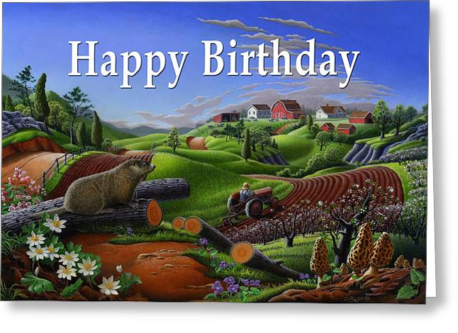 no14 Happy Birthday 5x7 greeting card  Greeting Card by Walt Curlee