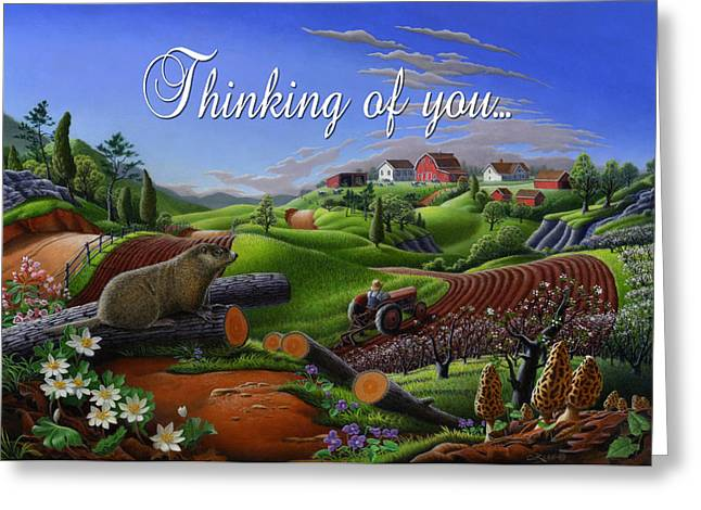 no14 Thinking of you 5x7 greeting card  Greeting Card by Walt Curlee