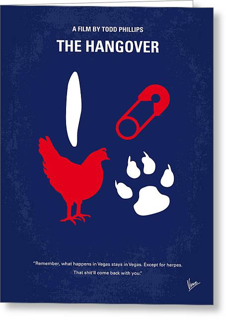 No145 My The Hangover Minimal Movie Poster Greeting Card