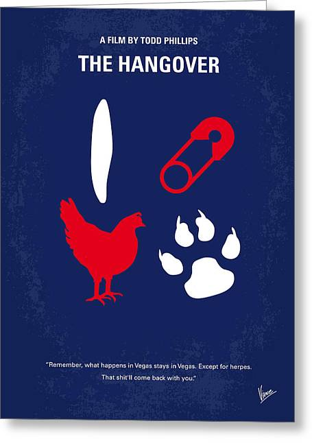 No145 My The Hangover Part 1 Minimal Movie Poster Greeting Card by Chungkong Art