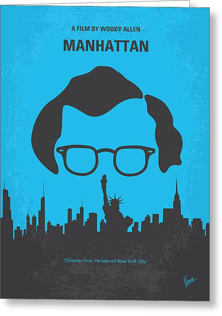 No146 My Manhattan Minimal Movie Poster Greeting Card