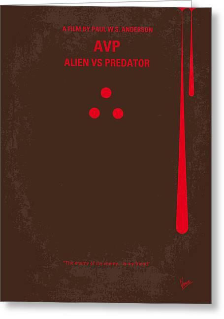 No148 My Avp Minimal Movie Poster Greeting Card by Chungkong Art