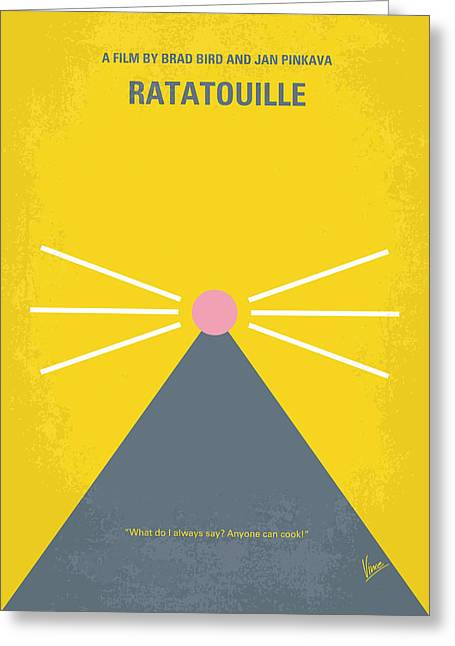 No163 My Ratatouille Minimal Movie Poster  Greeting Card