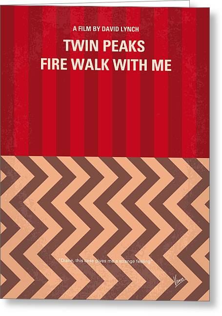 No169 My Fire Walk With Me Minimal Movie Poster Greeting Card