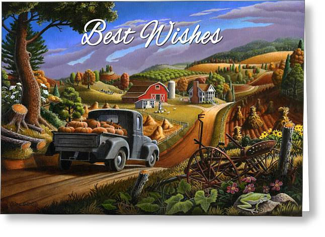 no17 Best Wishes Greeting Card by Walt Curlee