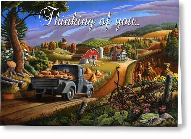 no17 Thinking of you Greeting Card by Walt Curlee