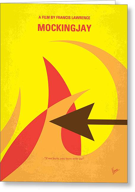 No175-3 My Mockingjay - The Hunger Games Minimal Movie Poster Greeting Card