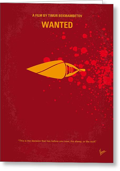 No176 My Wanted Minimal Movie Poster Greeting Card
