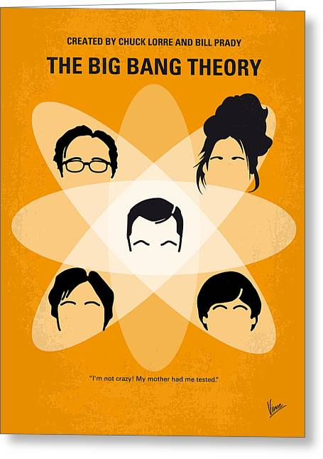 No196 My The Big Bang Theory Minimal Poster Greeting Card