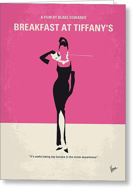 No204 My Breakfast At Tiffanys Minimal Movie Poster Greeting Card by Chungkong Art