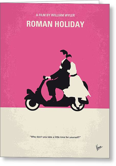 No205 My Roman Holiday Minimal Movie Poster Greeting Card by Chungkong Art