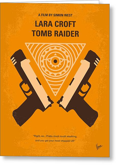 No209 Lara Croft Tomb Raider Minimal Movie Poster Greeting Card