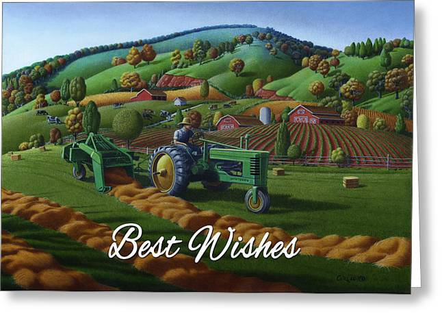 no21 Best Wishes 5x7 greeting card  Greeting Card