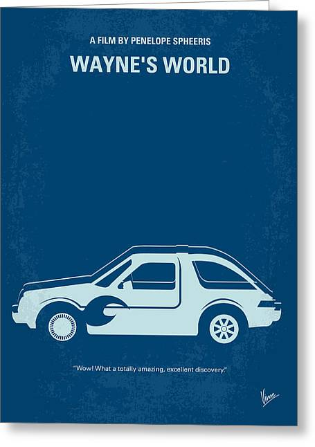 No211 My Waynes World Minimal Movie Poster Greeting Card