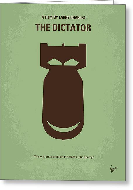 No212 My The Dictator Minimal Movie Poster Greeting Card by Chungkong Art