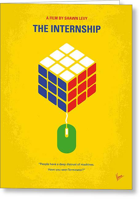 No215 My The Internship Minimal Movie Poster Greeting Card by Chungkong Art