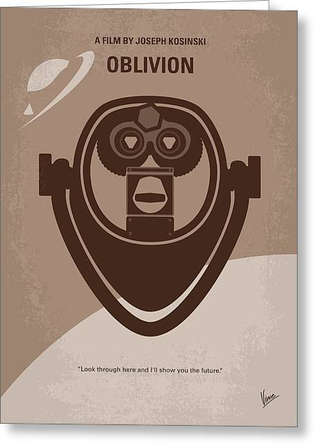 No217 My Oblivion Minimal Movie Poster Greeting Card by Chungkong Art