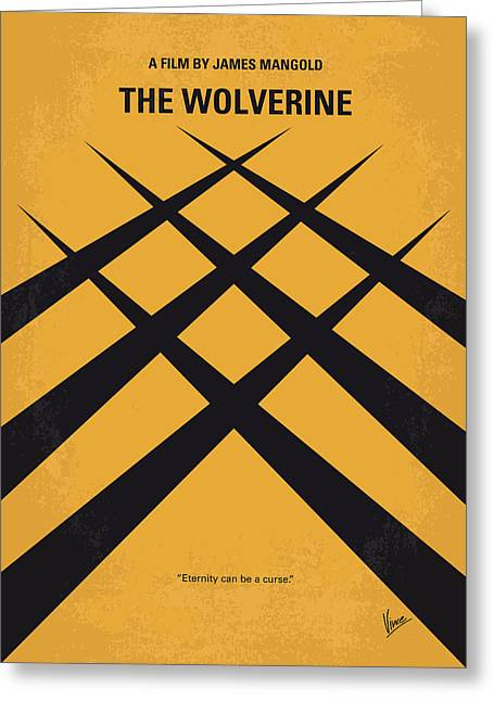 No222 My Wolverine Minimal Movie Poster Greeting Card