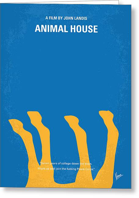 No230 My Animal House Minimal Movie Poster Greeting Card by Chungkong Art