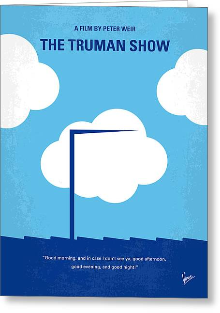 No234 My Truman Show Minimal Movie Poster Greeting Card by Chungkong Art