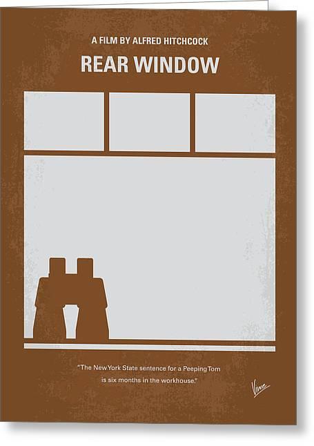 No238 My Rear Window Minimal Movie Poster Greeting Card