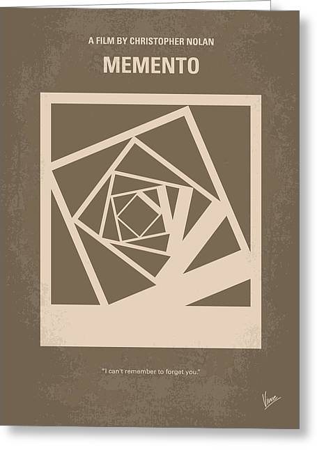No243 My Memento Minimal Movie Poster Greeting Card