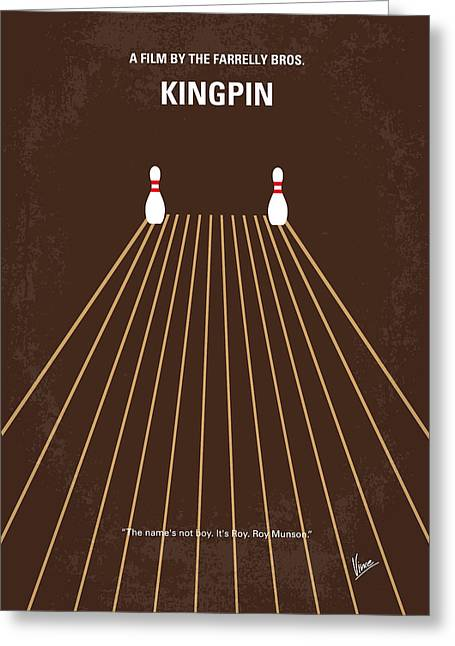 No244 My Kingpin Minimal Movie Poster Greeting Card by Chungkong Art