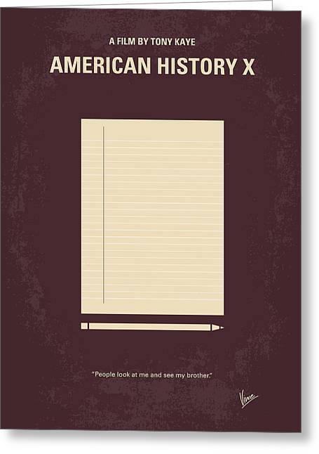 No247 My American History X Minimal Movie Poster Greeting Card