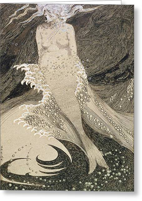 The Mermaid Greeting Card by Sidney Herbert Sime