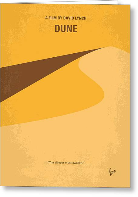 No251 My Dune Minimal Movie Poster Greeting Card by Chungkong Art